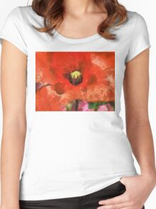 Red Sensation Women's Fitted Scoop T-Shirt