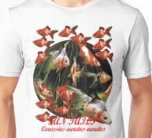 Carassius auratus auratus; Fantail Goldfish. Unisex T-Shirt