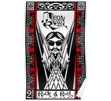 Leon Russell, Rock & Roll Hall of Fame, Commemorative Art by L. R. Emerson II Poster