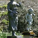 Blair Castle, Hercules Garden, shepherdess statue by BronReid