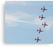 Red Arrows Display Team Canvas Print
