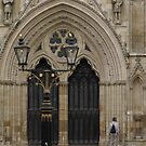 Lamps by the main doors to York Minster, Yorkshire UK by BronReid
