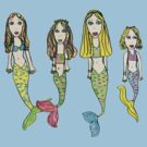 Tane&#x27;s Drawing of My Girls as Mermaids by micklyn
