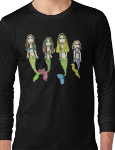 Tane's Drawing of My Girls as Mermaids Long Sleeve T-Shirt