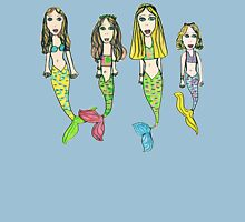 Tane's Drawing of My Girls as Mermaids Womens Fitted T-Shirt