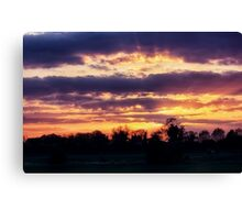 Heart of Sunset Canvas Print