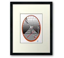 TEST CHAMBER  Framed Print