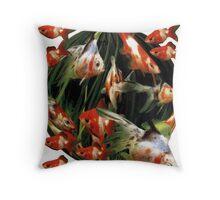 Carassius auratus auratus; Fantail Goldfish. Throw Pillow