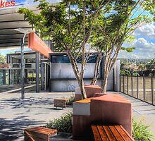 railway station street furniture by Murray Swift