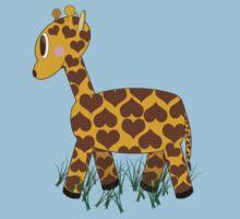 Giraffe in Grass Kids Clothes