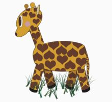 Giraffe in Grass Kids Clothes