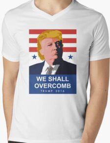 We Shall Overcomb Donald Trump 2016 Mens V-Neck T-Shirt