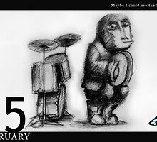 February 15th - Maybe I could use the snare by 365 Notepads -  School of Faces