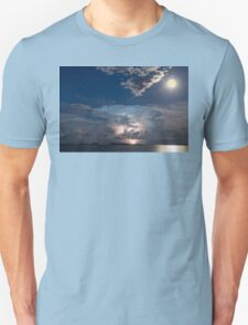 Lake Lightning Thunderstorm and Full Moon Unisex T-Shirt
