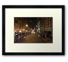 East Illinois St. Framed Print