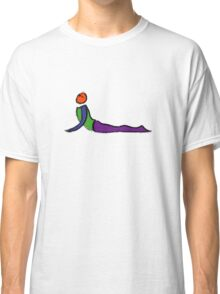 Painting of cobra yoga pose. Classic T-Shirt