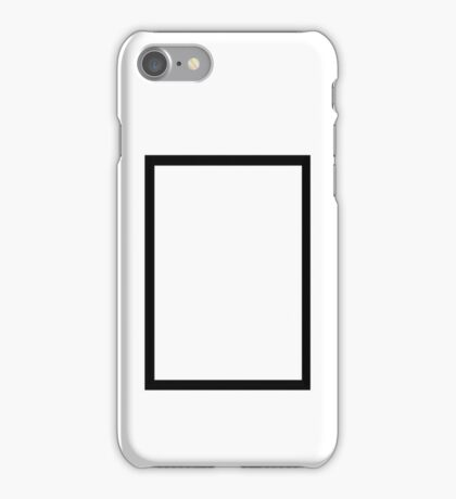 THE 1975 - BLACK RECTANGLE iPhone Case/Skin