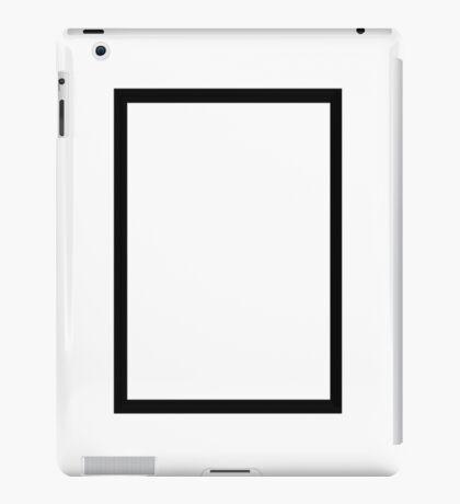 THE 1975 - BLACK RECTANGLE iPad Case/Skin