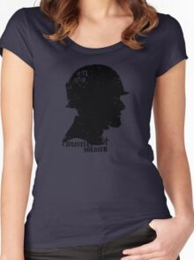 CHRISTIAN SOLDIER Women's Fitted Scoop T-Shirt