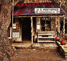 Luckenbach Post Office by Judy Vincent