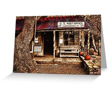 Luckenbach Post Office Greeting Card