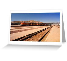 Speeding Train Greeting Card