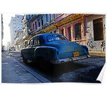 Havana Street scene, Havana, Cuba Poster