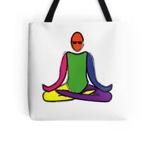 Painting of lotus yoga pose. Tote Bag