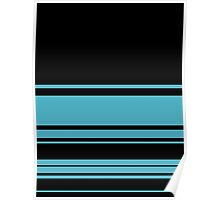 Pale Blue Stripes  Poster