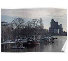 Amstel River in Amsterdam Poster