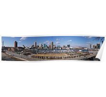 Baltimore skyline and inner harbor Poster