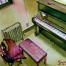 2007 My Practise Room in Sepia : Take 1 (Original) by BuaS