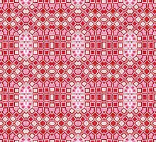 Red, Pink and White Abstract Design Pattern by Mercury McCutcheon