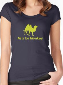 M is for Monkey Women's Fitted Scoop T-Shirt