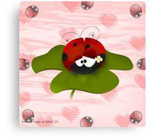Silly Ladybug Canvas Print