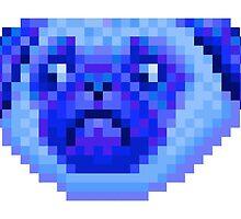 blue pug by v0ff