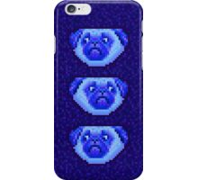 blue pug iPhone Case/Skin