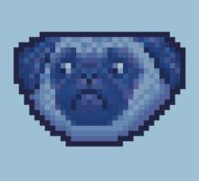 blue pug One Piece - Short Sleeve