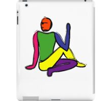 Painting of half lord of the fishes yoga pose. iPad Case/Skin