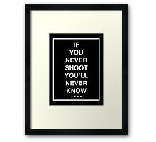 the 1975 - ROBBERS WHITE FONT Framed Print