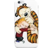 huggie Calvin And Hobbes iPhone Case/Skin