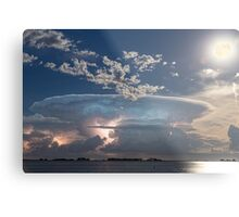 Full Moon Lake Storm Metal Print