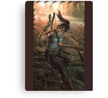 Tomb Raider Gun Artwork Canvas Print