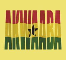 Akwaaba - You're Welcome - Twi + Ghana Flag One Piece - Short Sleeve