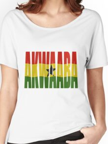 Akwaaba - You're Welcome - Twi + Ghana Flag Women's Relaxed Fit T-Shirt