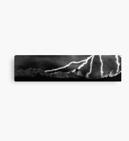 Mountainous Volts Canvas Print