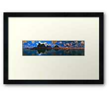 Sunset At Temple Rocks Framed Print