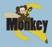 Monkey with Banana Kids Clothes