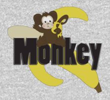 Monkey with Banana One Piece - Short Sleeve