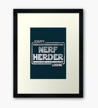 Scruffy Looking Nerf Herder Framed Print